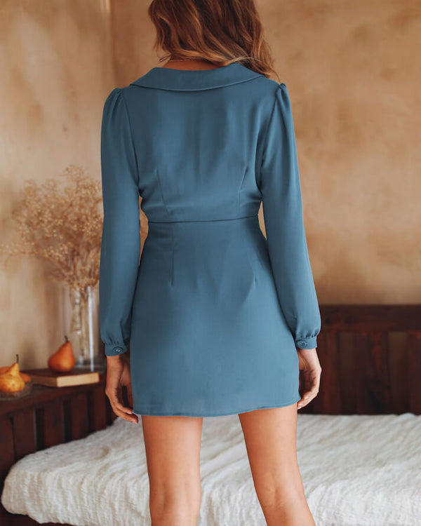 Stormi Blazer Bodycon Dress - Blue | Flirtyfull.com