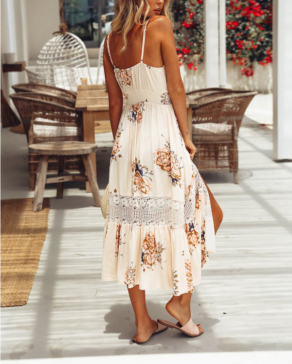 Flirtyfull Swear it Again Boho Summer Midi Dress | Flirtyfull.com