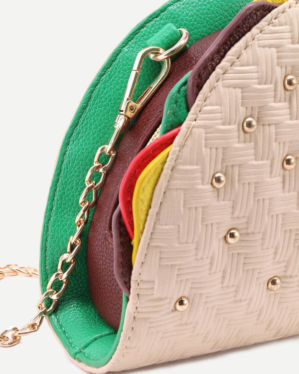 Taco Shape Crossbody Novelty Purse | Flirtyfull.com