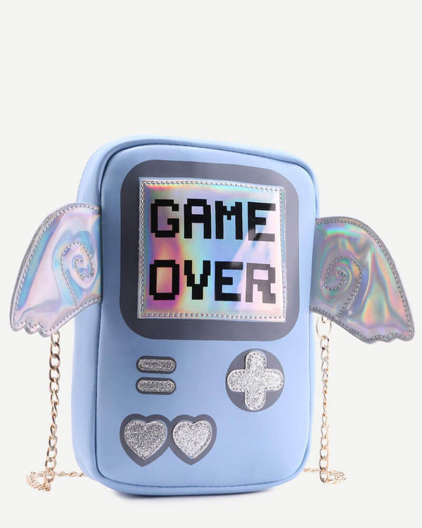 Videogame Game Over Shape Novelty Bag | Flirtyfull.com