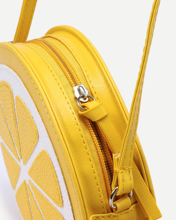 Lemon Crossbody Messenger Kawaii Bag - Yellow | Flirtyfull.com