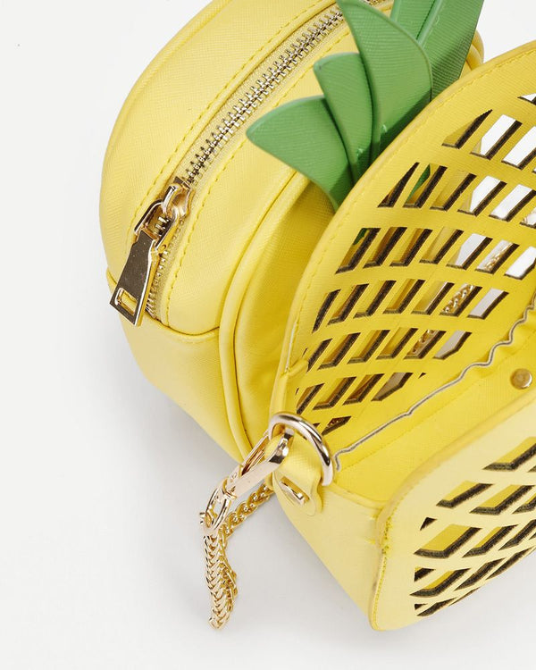 Pineapple Crossbody Kawaii Bag with LaserCuts - Yelllow | Flirtyfull.com