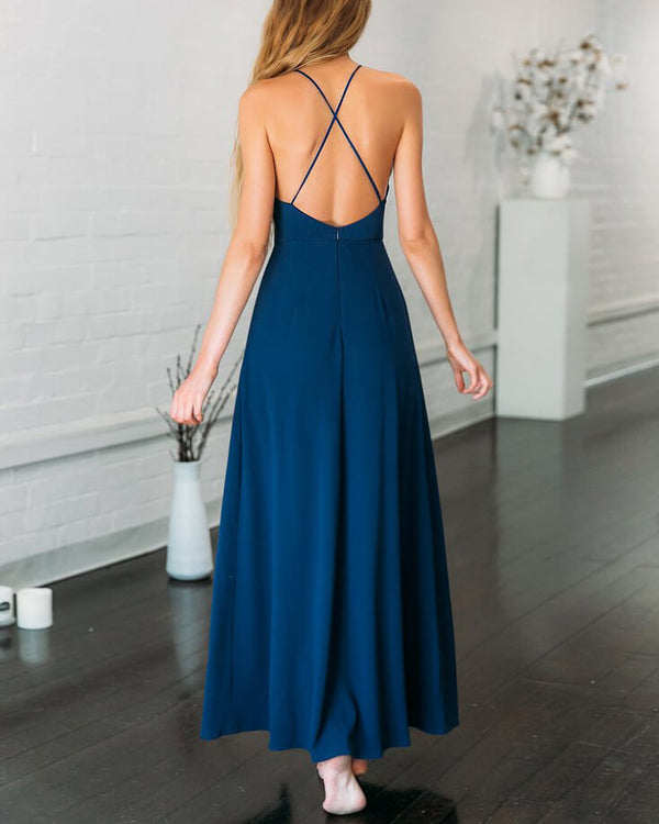 You Make Me Wonder Formal Jumpsuit - Navy | Flirtyfull.com