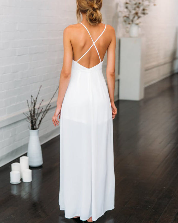 You Make Me Wonder Formal Jumpsuit - White | Flirtyfull.com