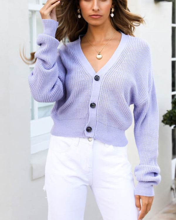 Karibu Knitted Sweater - Purple Blue | Flirtyfull.com