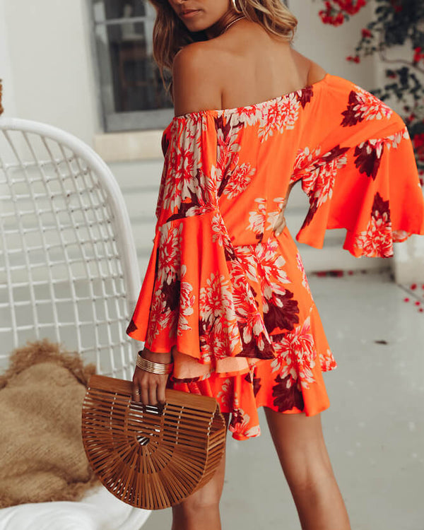 On Fuego Bohemian Playsuit - Orange | Flirtyfull.com