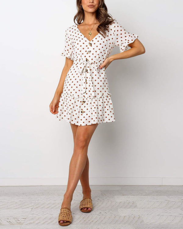 Riverbank Vintage Polka Dot Dress | Flirtyfull.com