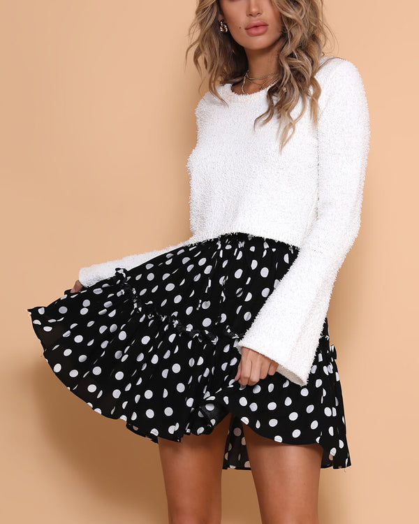 Supreme Polka Dot Skirt - Black | Flirtyfull.com