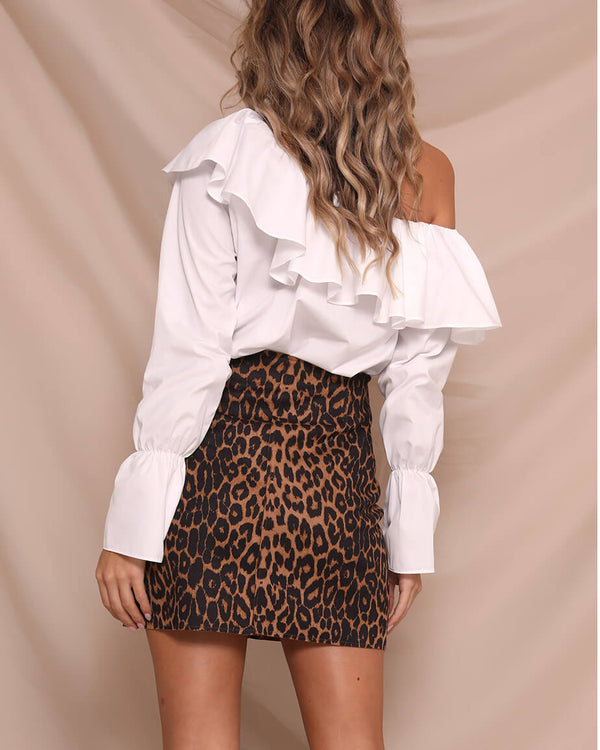 Worry No More Asymmetrical Top - White | Flirtyfull.com