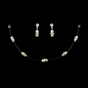 Darling Child's Double Pearl Illusion Jewelry Set - La Bella Bridal Accessories