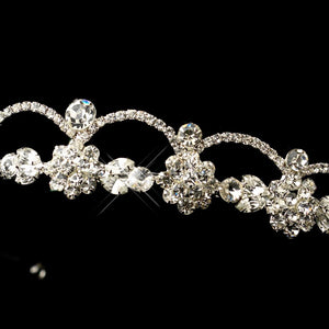 Beautiful Dainty Silver Crystal wedding tiara - La Bella Bridal Accessories