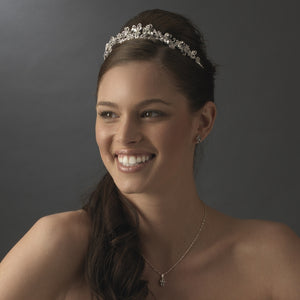 Super Pretty Crystal Butterfly Like Bridal Tiara - La Bella Bridal Accessories