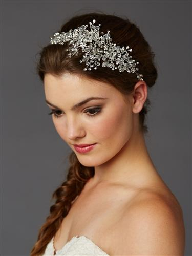 bridal hair vine, crystal hair vine, Wedding headpiece, Wedding hair vine