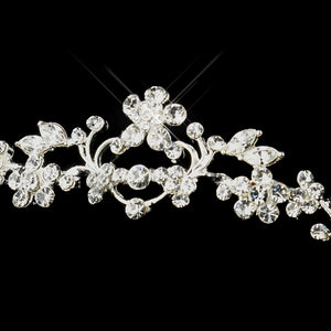 Silver Crystal Wedding Tiara Headpiece