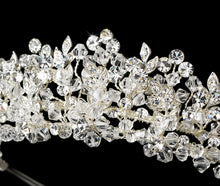 Stunning Swarovski Crystal Floral Leaf Wedding Tiara - La Bella Bridal Accessories