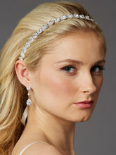Gorgeous Slender Silver Crystal Linked Bridal Headband - La Bella Bridal Accessories
