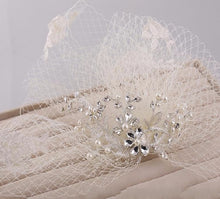 Vintage Couture Russian Net, Pearls & Lace Wedding Veil - La Bella Bridal Accessories