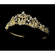 Gorgeous Swarovski Crystal Wedding Tiara with Pearls - La Bella Bridal Accessories