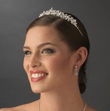 Crystal Encrusted Silver Bridal Tiara Headpiece - La Bella Bridal Accessories