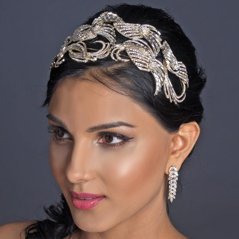 Couture Crystal bridal headpiece, light gold, wedding headband, crystal wedding headband, silver, sale, Retro, Light Gold, Headpieces, headpiece, Headband, Gold, art deco, Crystals, crystal headpiece, Crystal headband, crystal hat, crystal cap, crystal hairband, Wedding Headpiece, Bridal headpieces