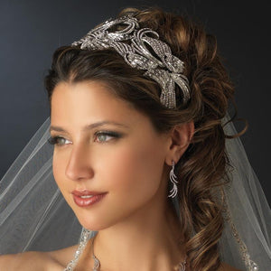 Royal Couture Crystal Bridal Headband Headpiece - La Bella Bridal Accessories
