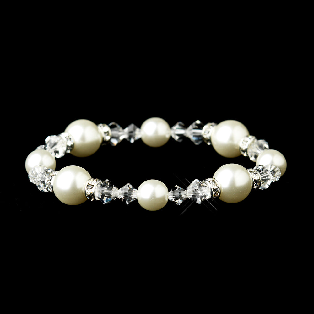 Swarovski Crystal Pearl Bracelet - La Bella Bridal Accessories