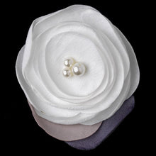 Ivory Flower Clip with Faux Pearl Accents - La Bella Bridal Accessories