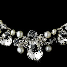 Gorgeous Crystal Necklace Earring Set - La Bella Bridal Accessories