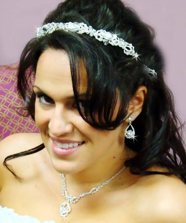 Modern Crystal Bridal Headpiece Headband - La Bella Bridal Accessories
