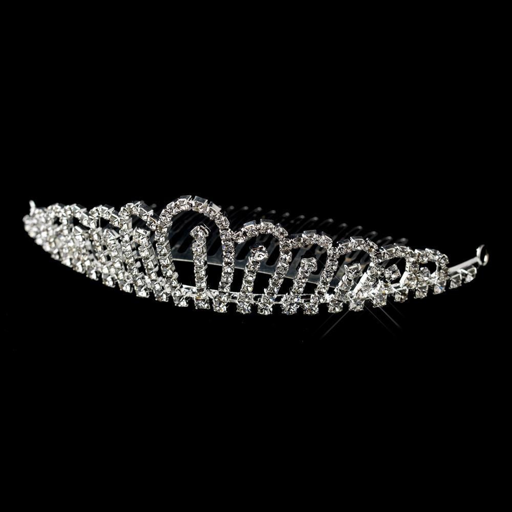 Silver Clear Crystal Hair Tiara Comb, Wedding Headpiece, Bridal headpieces