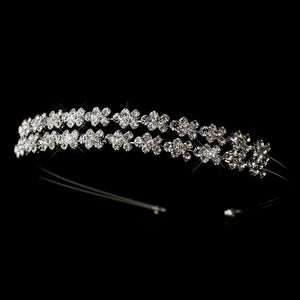 Silver, Crystal Double Headband, Wedding Headpiece, Bridal headpieces