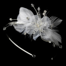Bridal Feather Fascinator on Headband - La Bella Bridal Accessories