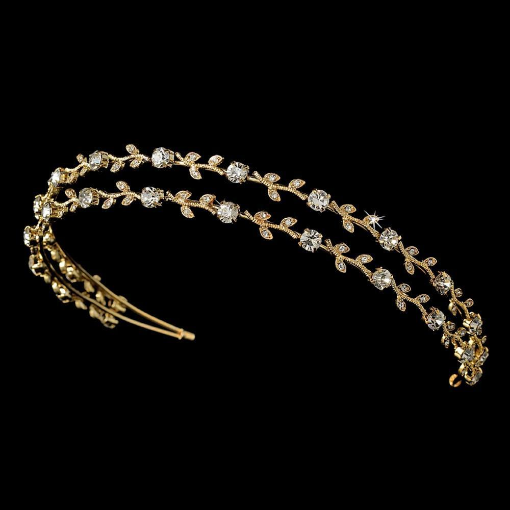 Crystal Bridal Vine Tiara - La Bella Bridal Accessories