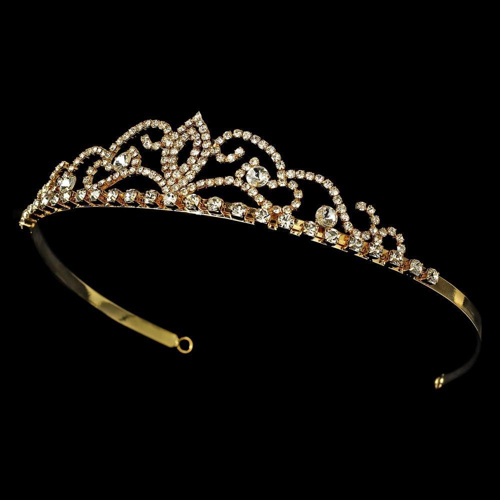 Gold Bridal Tiara - La Bella Bridal Accessories