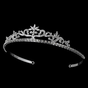 Crystal Bridal Tiara (Silver or Gold) - La Bella Bridal Accessories