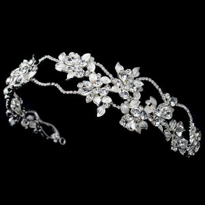 Floral Crystal Side Accented Headband 1540