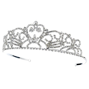Crystal Princess Bridal Tiara (Silver or Gold) - La Bella Bridal Accessories