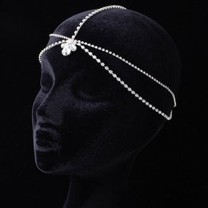 Kim Kardashian Inspired Forehead Chain Teardrop Crystal - La Bella Bridal Accessories