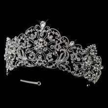 Antique Inspired Royal Crystal Bridal Tiara - La Bella Bridal Accessories