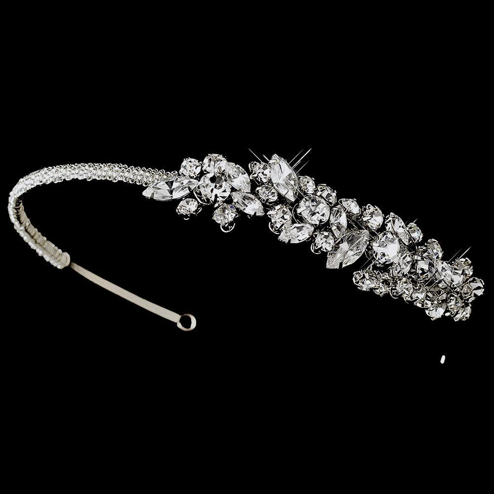 Vintage Bridal Headpiece with Side Ornament - La Bella Bridal Accessories