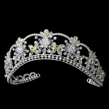 wedding tiara, wedding hair piece, crystal tiara, bridal tiara