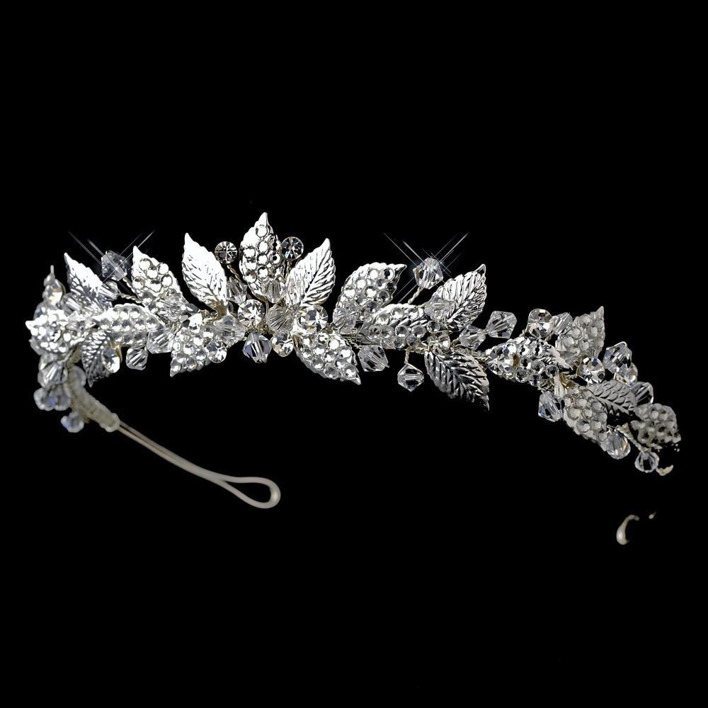 Silver Vintage Bridal Tiara - La Bella Bridal Accessories