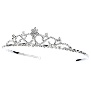 Classic Crystal Bridal Tiara - La Bella Bridal Accessories