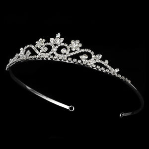 Silver Clear Tiara HP 6240 - La Bella Bridal Accessories