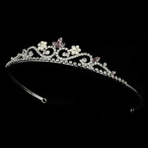 Silver and Lilac Tiara - La Bella Bridal Accessories