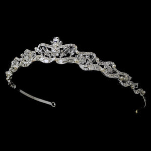 Swarovski Crystal & Freshwater Pearl Bridal Tiara, Wedding Headpiece, Bridal headpieces