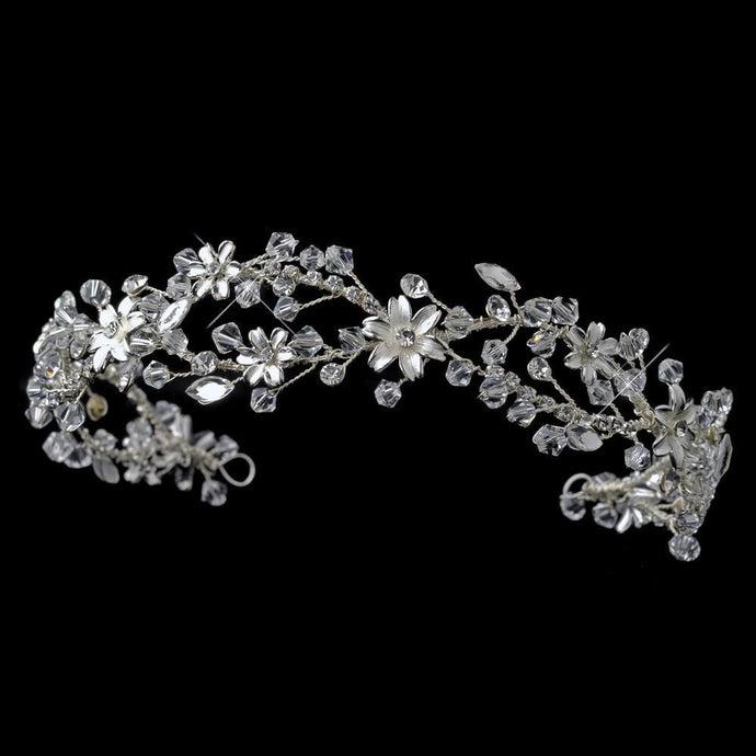 wedding headpiece, flower headband, hair vine, crystal headband, bridal headpieces
