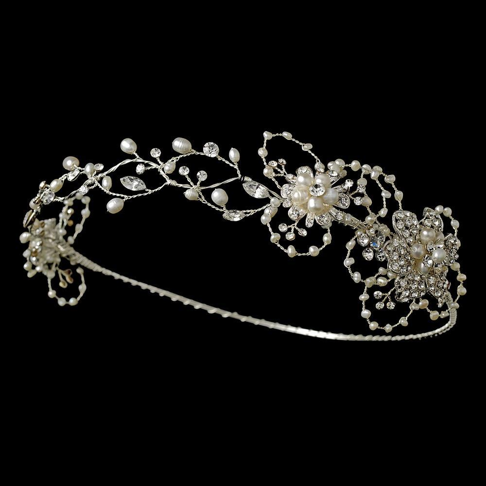 Freshwater Pearl Circlet, Wedding Headpiece, Bridal headpieces