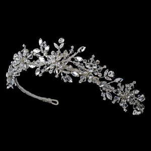 Swarovski Snowflake Bridal Tiara - La Bella Bridal Accessories