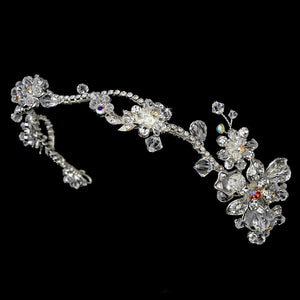 Silver Plated AB Bridal Headband - La Bella Bridal Accessories